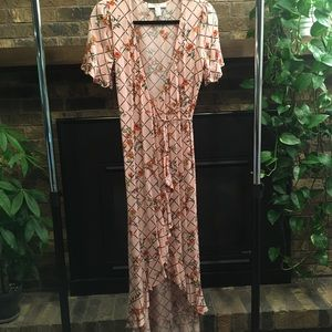 NWOT Forever 21 Floral Wrap High Low Dress